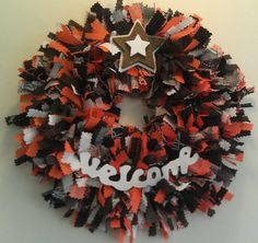 Cleveland Browns Fabric Welcome Wreath