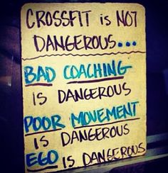 Crossfit isn't dangerous, you just have to make sure you find a good gym!