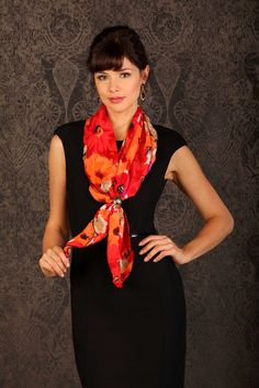 A scarf can add that pop of color. http://www.renorose.com/collections/pirose-fashion/products/gwendolyn