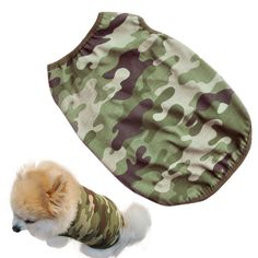 Small Dog Shirt, Voberry Fashion Pet Puppy Clothes Classic Army camouflage Cotton Costumes Pet Dog Cat Cute T Shirt ** Click image for more details.