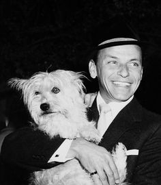 """Frank & Snuffy on the set of Pal Joey, 1967  I was at Barnes and Noble today and they had Frankie on repeat!  I hope you're all having a wonderful day.…"""