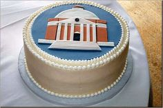 Awesome! Rotunda cake from Favorite Cakes bakery in Charlottesville.