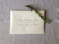 Hand Addressed Envelope LePen Combo by KatieHoffmanInk on Etsy