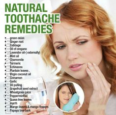 Natural toothache remedies.