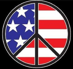 Patriotic Peace Sign HEAT PRESS TRANSFER for T Shirt Sweatshirt Tote Fabric #782 #AB