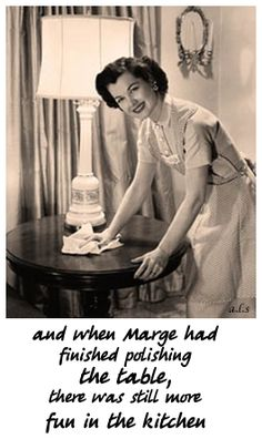 I never knew cleaning could be so enjoyable! vintage Happy Housewife Dusting with a Smile Retro Humor, Vintage Humor, Retro Funny, Vintage Stuff, Vintage Posters, Mormon Humor, Vintage Housewife, 1950s Housewife, Housewife Humor
