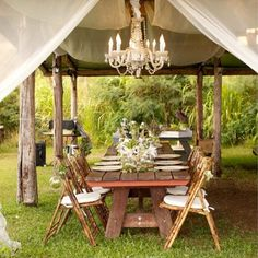 Great garden party ideas rustic garden table