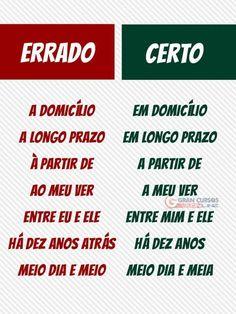 Portuguese Phrases, Portuguese Language, Post Pro, Mental Map, Learn Brazilian Portuguese, Study Inspiration, Study Notes, Study Tips, Writing Tips
