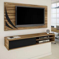 #Sala organizada e linda? #Painel te ajuda nisso tudo! Esconde os cabos, facilita na organização e na #decoração! #design #madeiramadeira