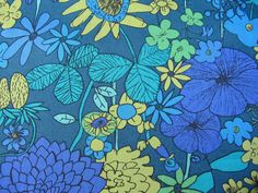 LIBERTY TANA LAWN COTTON 1.00 MTR of SCILLY FLORA in BLUES in Crafts, Sewing & Fabric, Fabric | eBay