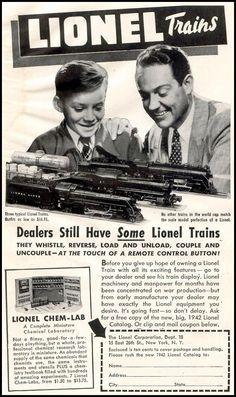 LIONEL MODEL TRAINS  LIFE  11/30/1942  p. 124