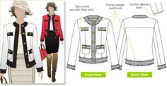 Coco Chanel Jacket Pattern | and i am ready to go with a chanel jacket