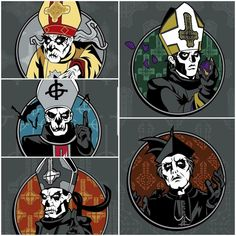 Band Ghost, Ghost Bc, Ghost Banda, Doom Metal Bands, Music Rock, Heavy Metal Art, Ghost And Ghouls, Satanic Art, Ghost Photos