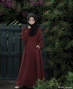 See More in Sejuta Pin Hijabi Girl, Girl Hijab, Cute Cartoon Girl, Cartoon Art, Tmblr Girl, Muslim Pictures, Hijab Drawing, Islamic Cartoon, Hijab Cartoon