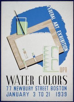 Title: Federal Art exhibition WPA water colors.  Creator(s): Nason, Ben, artist  Date Created/Published: [Massachusetts : Federal Art Project], 1939.