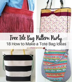 Free Tote Bag Pattern Party: 18 How to Make a Tote Bag Ideas   AllFreeSewing.com