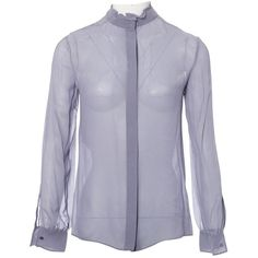 Pre-owned Valentino Silk Blouse (18.500 RUB) ❤ liked on Polyvore featuring tops, blouses, purple, women clothing tops, purple silk top, purple blouse, purple silk blouse, long sleeve tops and sleeve blouse