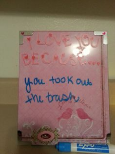I love you because board...upcycled frame!