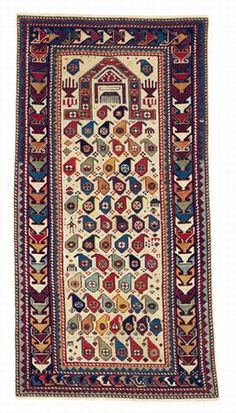 Dagestan prayer rug, second half 19th century. Rippon Boswell  | JOZAN