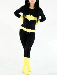 Black & Yellow Batgirl Spandex Superhero Costume