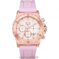 Ladies Bulova Marine Star Ladies Chronograph Watch 98M118