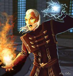 Ancano by LMColver on DeviantArt Elder Scrolls Oblivion, Elder Scrolls Games, Elder Scrolls Skyrim, Skyrim Fanart, Arrow To The Knee, Bear Attack, High Elf, Photoshop Cs5, Fantasy World