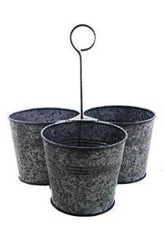 Metal Conjunto de 3 Hanging Planter Tiesto Titular