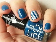 Rimmel : Out Of The Blue & Mary Mary Quite Contrary ( & Unfortunately pictures don't give the real blue color. Beautiful Nail Designs, Cute Nail Designs, Rimmel, Nail Arts, Cute Nails, Mary Mary, Swatch, Nail Polish, Aqua
