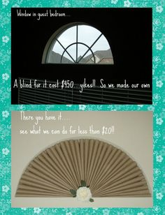 DIY....window covering for arch window for less that $20