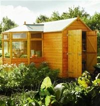 Greenhouse Shed-I love this idea