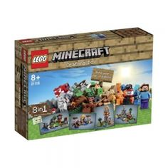 Lego Minecraft at the Wonderland Models Online Model Shop. Wonderland Models are an Online Toy and Model Shop who specialise in Lego Minecraft Sets, Construction, Learning and Building Toys. Our range of Lego kits is extensive. Lego Minecraft, Minecraft Crafts, Toys For Boys, Games For Kids, Kids Toys, Box Birthday, Birthday Ideas, Periodic Table Poster, Minecraft Welten