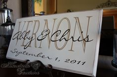 Personalized Name Plaque Names and Date by hautalacouture on Etsy