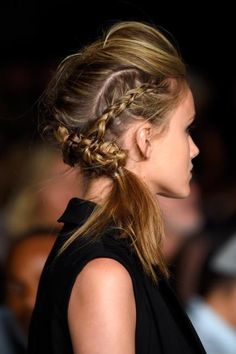 Find out how to create this braided pompadour hairstyle created by Tresemmé stylist Jeanie Syfu.