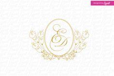 luxury wedding monogram-wedding logo-wedding by Linvit on Etsy