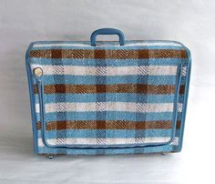 Mid Century Skyway SoftSided Suitcase  Mod Blue by leapinglemming, $44.95