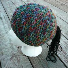 CrazySocks Crochet: CROCHET PATTERN - Ponytail Beanie