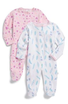ROSIE POPE Graphic Cotton One-Piece (Set of 2) (Baby Girls) available at #Nordstrom