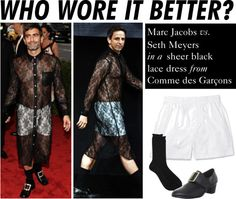 """""""Who Wore It Better: Marc Jacobs or Seth Meyers"""" by polyvore-editorial ❤ liked on Polyvore"""