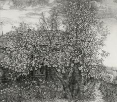 Nikireev Stanislaw(Russian)Apple tree in blossom  1978 etching