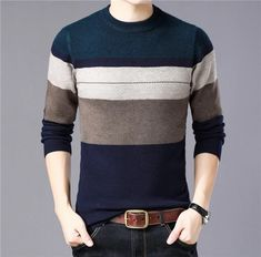 low priced 9b97a 739bc Hip Thick Warm Cashmere Wool Men Sweater Pullover