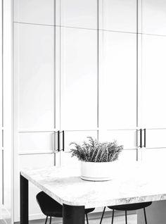 "thevirtualstylist: ""Interior Design from Est Living "" Razzle dazzle Kitchen Cupboards, Kitchen Dining, Silver Blonde, Wardrobe Design, Bedroom Styles, Closet Doors, Cabinet Doors, Colorful Interiors, Interior Design"
