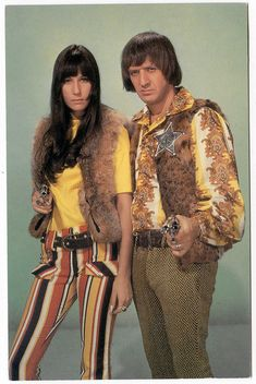 sonny & cher 1965 ..I got you babe... I loved their variety show--that was appointment TV, baby.