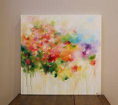 original abstract painting acrylic on canvas modern by artbyoak1