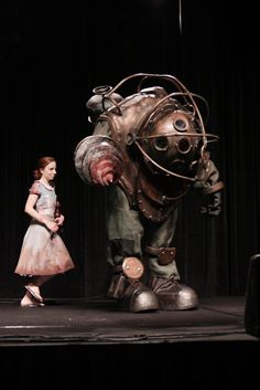 DragonCon - Bioshock. I can't imagine the insane level of skill you'd need to make a Big Daddy costume.