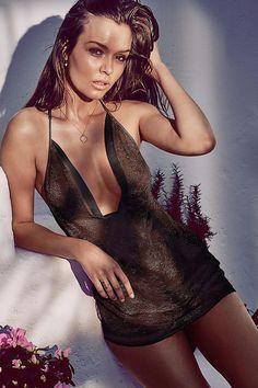 Josephine Skriver Slick in Thongs For Victoria's Secret