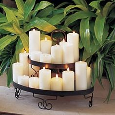fireplace candle holder - would be nice for our fireplace since we don't actually use it to heat the house