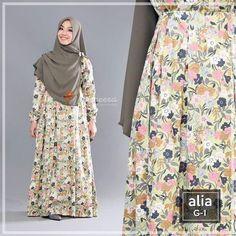 Gamis Yasmeera Alia Dress G1 - baju muslim wanita baju muslimah Untukmu yg cantik syari dan trendy . . Desain: - Bahan katun jepang premium - Busui/nursing friendly dengan retsleting depan - Saku di samping kanan - Karet di kedua sisi bawah dada - Tangan kancing/ wudhu friendly - Lebar bawah keliling 22 m . . Size Chart (S) LD 92 cm PB 133cm (M) LD 96 cm PB 135cm (L) LD 100 cm PB 137cm (XL) LD 104cm PB 140cm (XXL) LD 112cm PB 142cm . . Ready size M XL XXL Harga Rp 195.000 (gamis saja) Khusus…