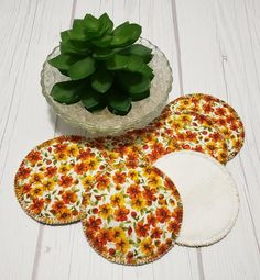 Looking for ways to take small steps into a zero waste, green, eco-friendly lifestyle? These beautiful makeup remover pads in yellow and orange marigols print are the perfect way to get started going green and saving money for your wallet. They work equally well as makeup remover pad, facial Terry Makeup, Makeup Remover Pads, Cotton Pads, Bridal Shower Favors, Graduation Gifts, Stocking Stuffers, House Warming, Printing On Fabric, Etsy Shop