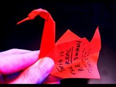How to make the REAL Prison Break Origami Swan - YouTube