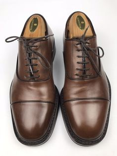 90a3bd6dc83 To Boot New York Cap-Toe Shoe Oxfords Brown Leather Mens US Size 7M (